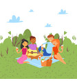 picnic outdoor in nature or park weekend vector image vector image