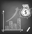 Profit growth Stock vector image