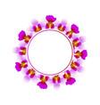 purple vanda miss joaquim orchid banner wreath vector image