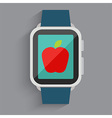 Red Apple On Watch vector image vector image