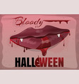 red feminine lips in blood bloody halloween vector image