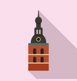 riga cathedral icon flat style vector image vector image
