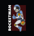 rocket man for mascot or graphic goods vector image