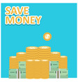 save money design with light background vector image
