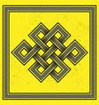 scandinavian yellow design vector image vector image