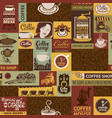 Seamless pattern on theme coffee houses