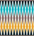 seamless rhombus geometrical pattern vector image