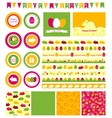 Set of design elements for Easter vector image