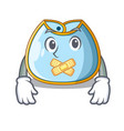 silent baby bib isolated on the mascot vector image