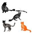 Silhouettes of cats made with watercolor vector image vector image