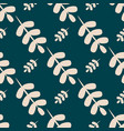 simple seamless pattern with leaves vector image vector image