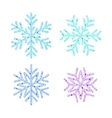 Snowflake set from Christmas decoration vector image