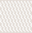 subtle white and beige seamless ropes pattern vector image