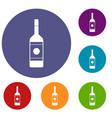 vodka icons set vector image vector image