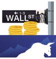 wall street new york bull wealth vector image vector image
