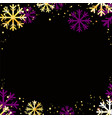 winter background with golden snowflakes vector image vector image