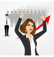 young beautiful business woman cheering vector image