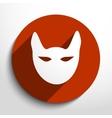 cat web icon vector image