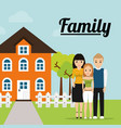family home tree fence image vector image
