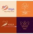 Logo template yoga studio Image design for vector image