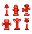 set of street hydrants vector image