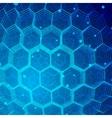 Tech Hexagon Background vector image