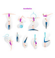 acrobatics show stunt tricks collection vector image