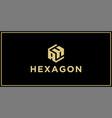 ah hexagon logo vector image vector image