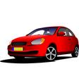 al 0210 red car vector image vector image