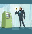 arab businessman and bank card vector image vector image