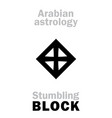 astrology stumbling block stone vector image vector image