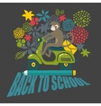 Back to school with cute black and vector image vector image