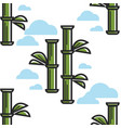 bamboo plant sticks seamless pattern chinese vector image vector image