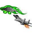 battle star space from a ufo and airplane vector image