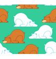 bear sleep pattern seamless arctic bear wild vector image vector image