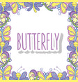 beauty butterflies insects animals background vector image vector image
