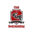 Bodybuilding sport club sign vector image