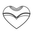 bride dress in heart shape icon vector image vector image