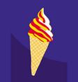 bright coolness delicious ice cream vector image