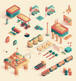 business in refinery mini plant isometric 3d vector image vector image