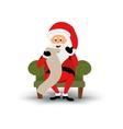 christmas smiling santa claus character sitting vector image vector image