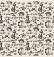 coffee pattern the names different types of vector image vector image