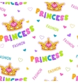 Cute seamless pattern for baby girls vector image