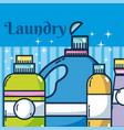 detergent bottles laundry vector image