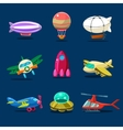 Different kind of planes vector image vector image