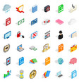 document icons set isometric style vector image vector image