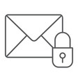 email protection thin line icon mail and security vector image vector image