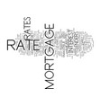find the best mortgage rate for you text vector image vector image