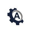 gear symbol letter a vector image