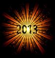 gold abstract happy new year twenty thirteen vector image vector image